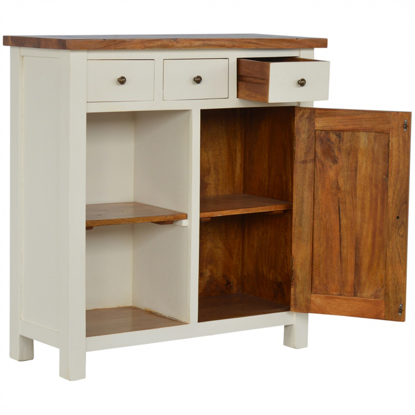 Mango Hill 2 Toned Kitchen Unit with 3 Drawers & 2 Open Shelves