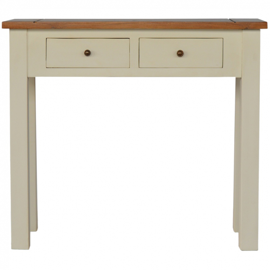 Cool Mango Hill 2 Toned Narrow Console Table With 2 Drawers Pabps2019 Chair Design Images Pabps2019Com