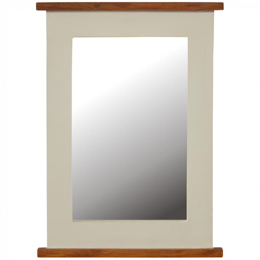 Mango Hill 2 Toned Rectangular Mirror Frame   VEGAN HAVEN