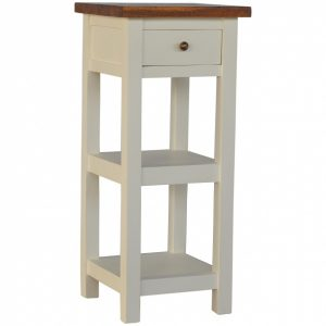 Mango Hill 2 Toned Telephone Table with 1 Drawer & 2 Shelves