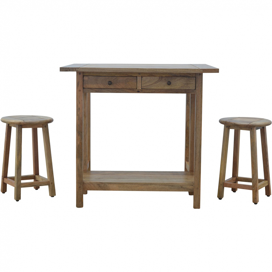 Marvelous Mango Hill Breakfast Table With 2 Stools Machost Co Dining Chair Design Ideas Machostcouk