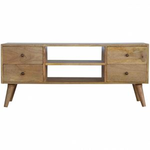 Mango Hill Media Unit with 4 Drawers