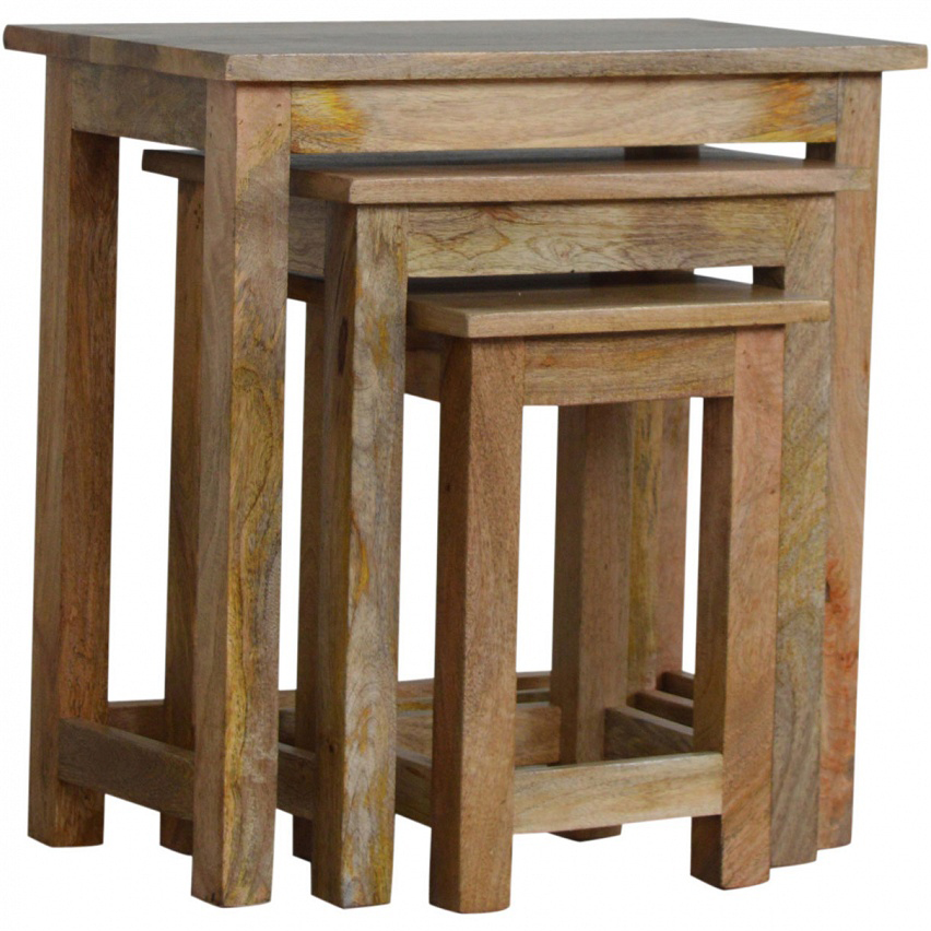 Mango Hill Nesting Table Set Of 3 | Vegan Haven