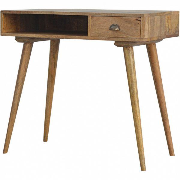 Mango Hill Open Shelf 1 Drawer Writing Desk