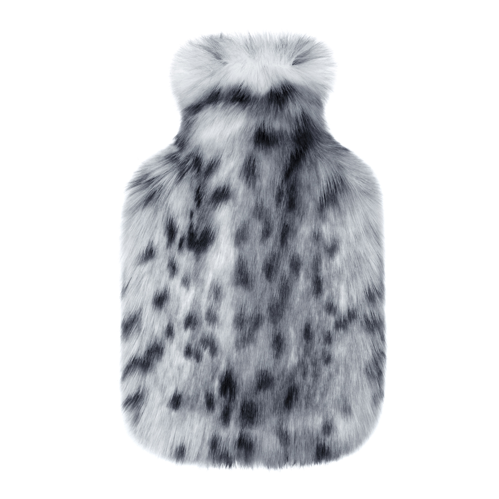 ARCTIC LEOPARD | FAUX FUR | HOT WATER BOTTLE