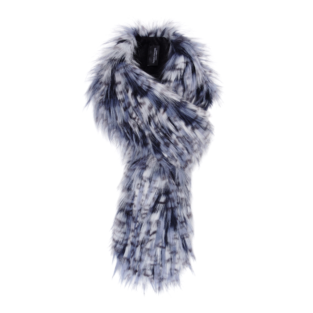 DENIM | FAUX FUR | LOOP SCARF