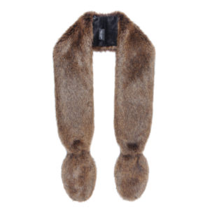 GOLDEN BEAR | FAUX FUR | SLIM VIXEN SCARF