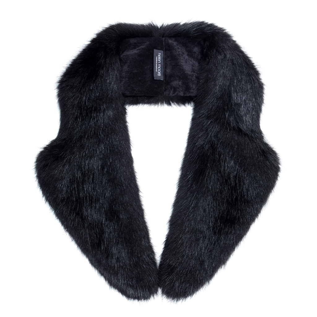 JET | FAUX FUR | LAPEL COLLAR