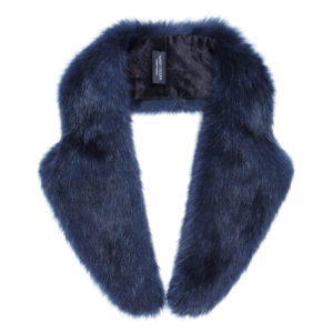 MIDNIGHT | FAUX FUR | LAPEL COLLAR