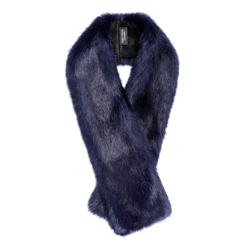 MIDNIGHT | FAUX FUR | LONG TIPPET SCARF