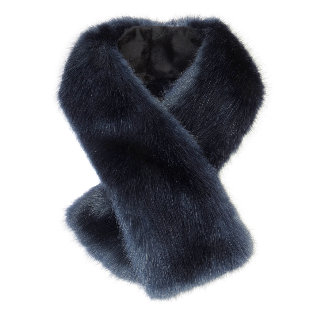 MIDNIGHT | FAUX FUR | TIPPET SCARF
