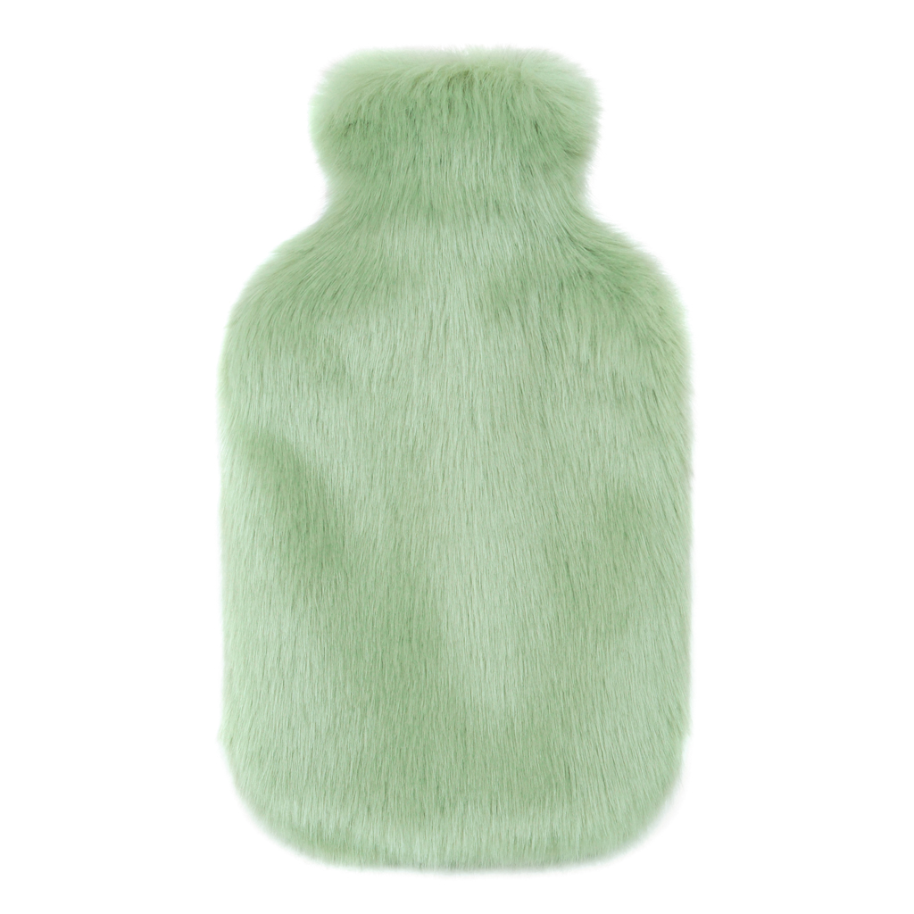 PISTACHIO | FAUX FUR | HOT WATER BOTTLE