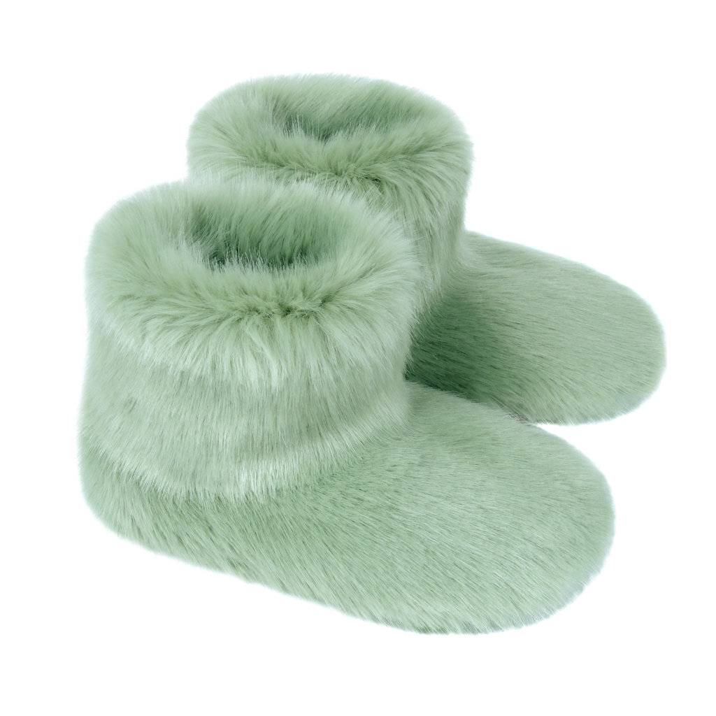 PISTACHIO | FAUX FUR | SLIPPER BOOTS