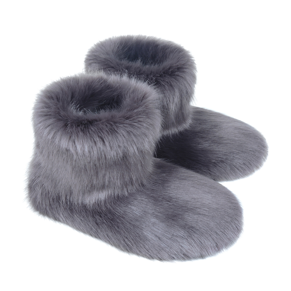 STEEL | FAUX FUR | SLIPPER BOOTS