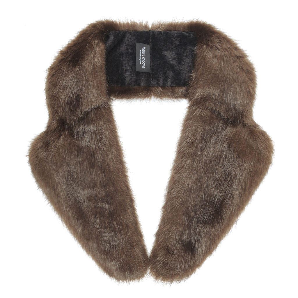 TREACLE | FAUX FUR | LAPEL COLLAR