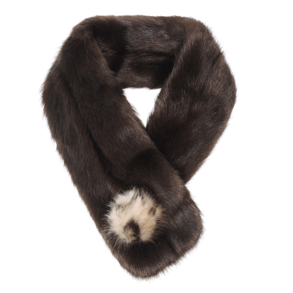 TREACLE | FAUX FUR | POM BUTTON SCARF