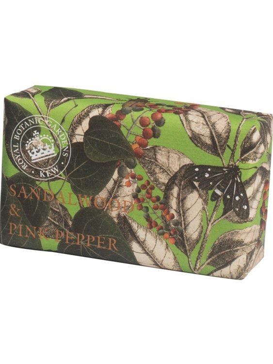 Sandalwood & Pink Pepper   Vintage Wrapped Soap