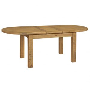 Gresford Rustic Oval Ext. Table 1800 extend 2200