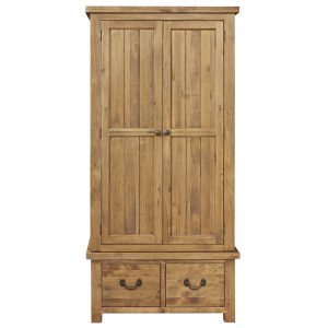 Gresford Rustic 2 Door 2 Drawer Wardrobe