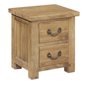 Gresford Rustic 2 Drawer Bedside Table