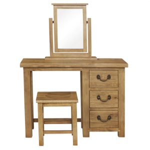 Gresford Rustic 3 Drawer Dressing Table