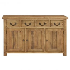 Gresford Rustic 4 Drawer 3 Door Sideboard
