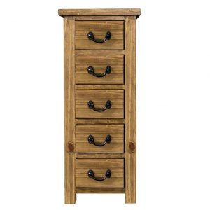 Gresford Rustic 5 Drawer Wellington Chest