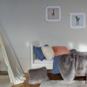 Faux Fur Comforter Throws