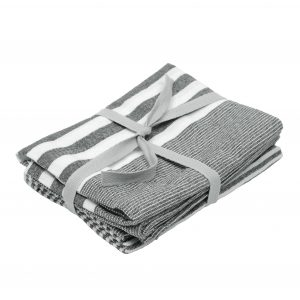 DARK GREY STRIPE | TEA TOWELS