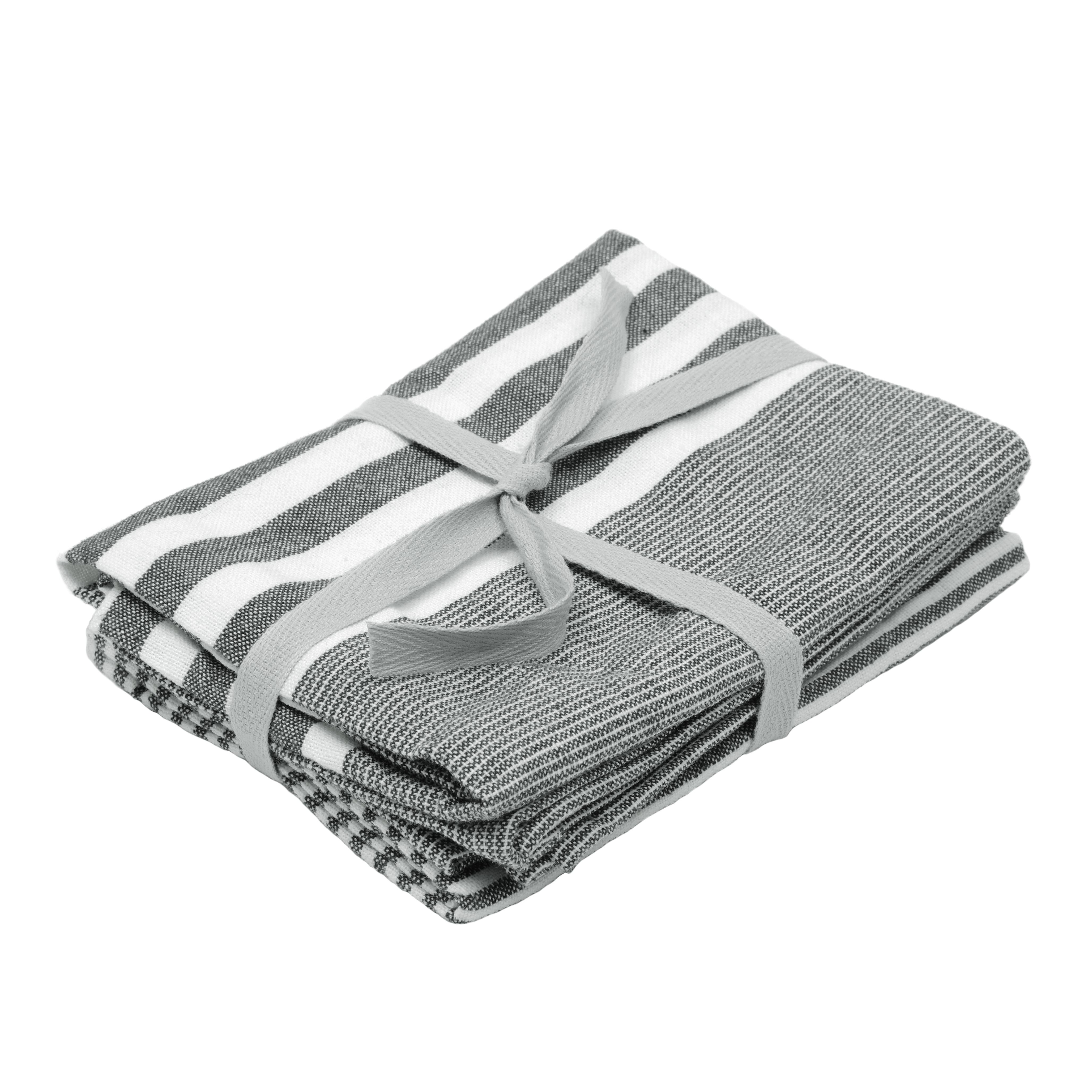 dark grey stripe | tea towels | kitchen & tableware
