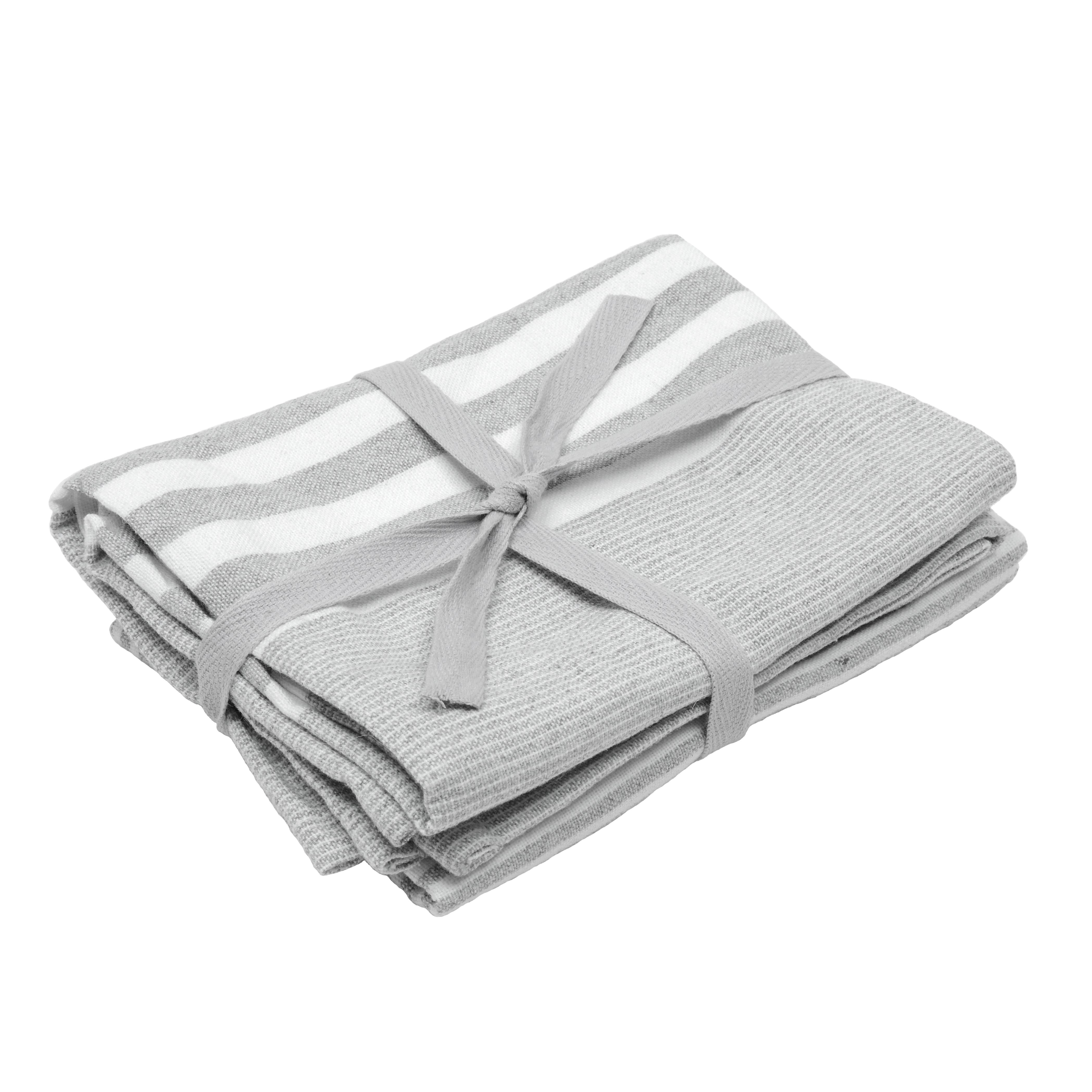 light grey | tea towels | kitchen & tableware | vegan haven