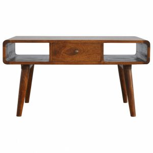Mango Hill 1 Drawer Curved Coffee Table