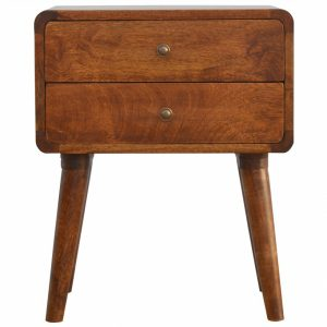 Mango Hill 2 Drawer Curved Bedside