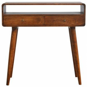 Mango Hill Open Slot Curved Console Table