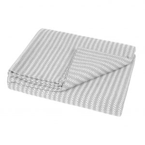 Revival Grey Stripe Throw