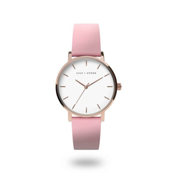 5th Avenue Collection // Rose Gold & White | Pink Strap