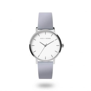 5th Avenue Collection // Silver & White | Light Blue Strap