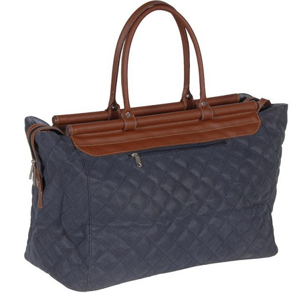 Blue & Tan | Quilted Bag