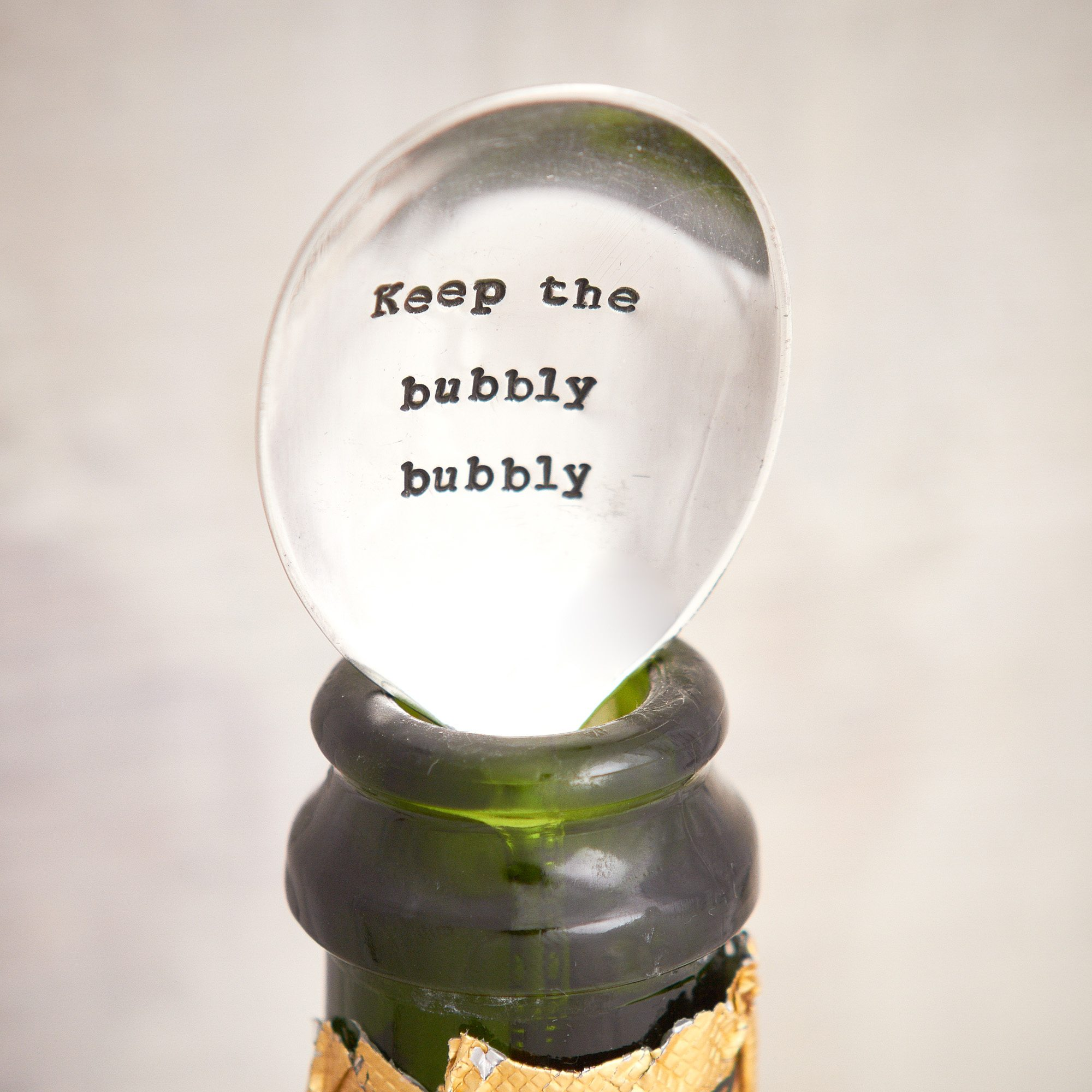 'Keep The Bubbly Bubbly' Vintage Champagne Spoon