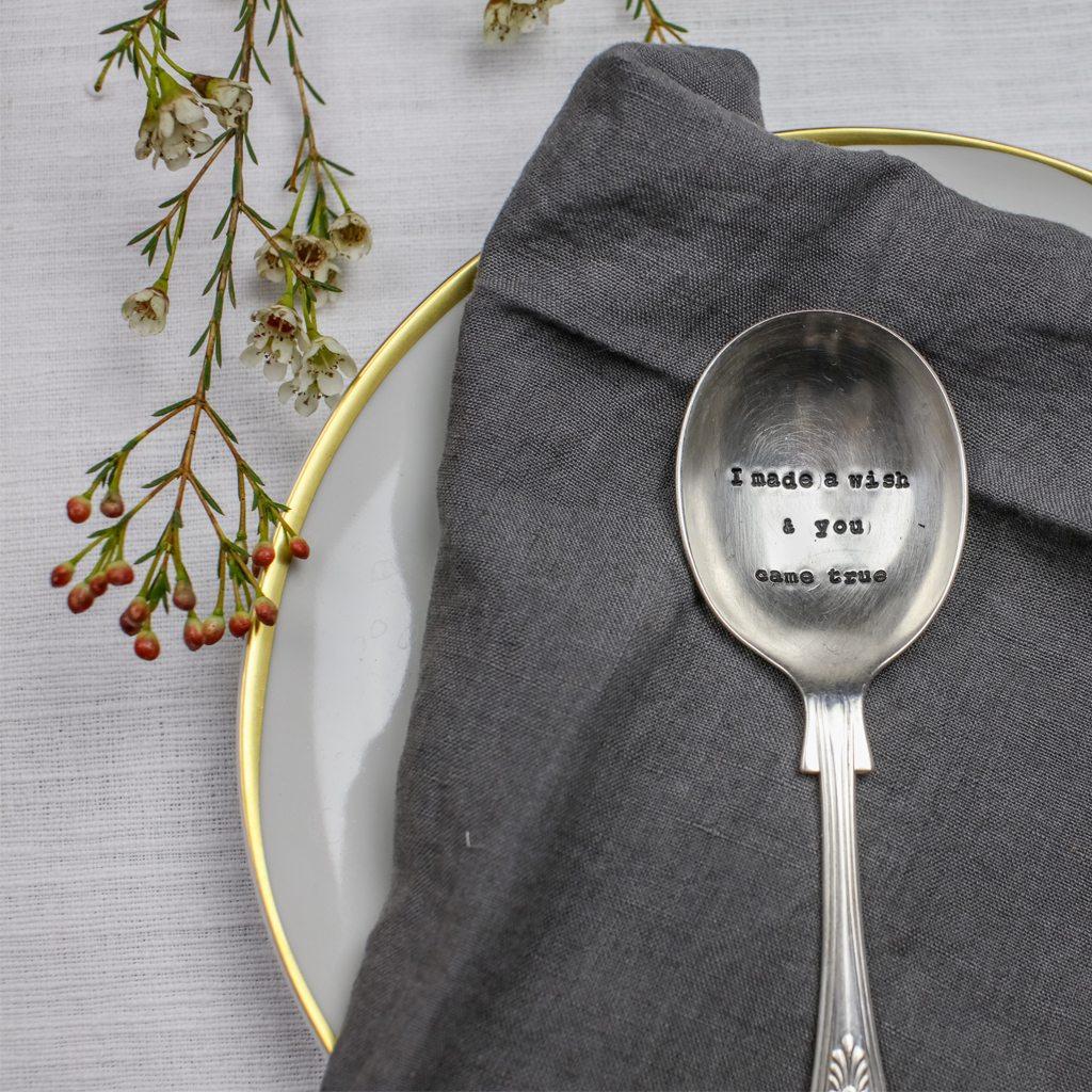 Dessert Spoon - 'I Made A Wish And You Came True'