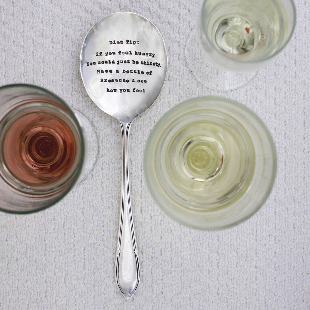 Serving Spoon - 'Diet Tip:'