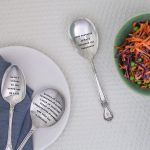 Serving Spoon - 'Love & Kisses To The Brand New Mr & Mrs'
