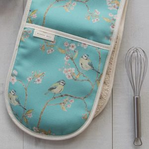 Blue Tit | Ditsy Print | Blossom Double Oven Gloves