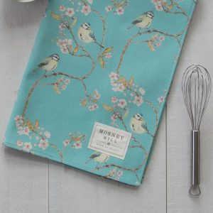 Blue Tit | Ditsy Print | Blossom Tea Towel