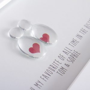 LOVE HEARTS GLASS PEBBLE PICTURE