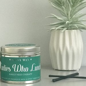 SOY WAX TIN CANDLE   LADIES WHO LUNCH