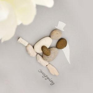 FOREVER STARTS TODAY | BRIDE & GROOM PEBBLE PICTURE