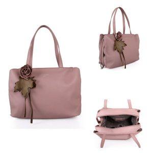 Pink Flower Detail | Shoulder Bag