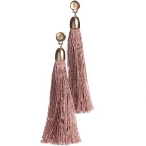 TASSEL-TASTIC | VINTAGE PINK EARRINGS