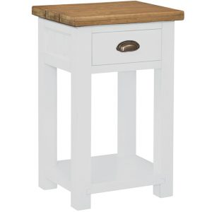Gresford White 1 Drawer Console Table